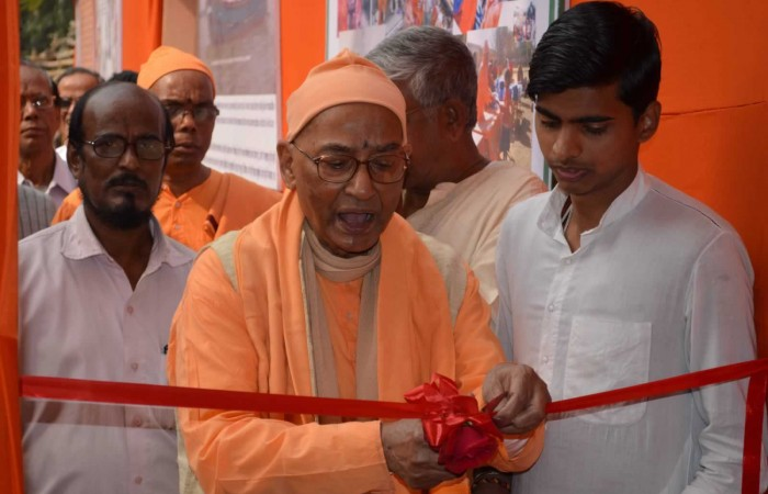 Exhibition Opened by REVERED SWAMI VAGISHANANDAJI MAHARAJ